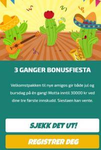 Bli med på lojalitetssystemet på Casino La Fiesta!