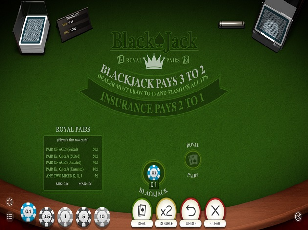 Nye Blackjack Royal Pairs!